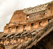 Visiting Coliseum Stock Photography