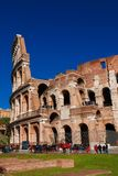 Visiting Coliseum in Rome Royalty Free Stock Images