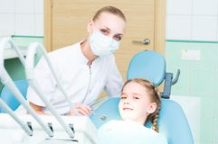 Visiting the dentist Stock Photos