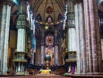Visiting Duomo of Milan Stock Photography