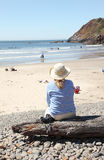 Visiting Ecola state park, Oregon coast. Royalty Free Stock Photos