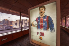 Visiting FC Barcelona Museum Royalty Free Stock Images