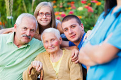 Visiting Granny in a Nursing Home Royalty Free Stock Image