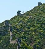 Visiting the Great Wall, China Royalty Free Stock Photos
