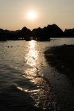 Visiting Ha Long Bay on Sunset Royalty Free Stock Photography