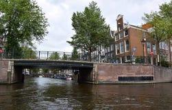 Bridges across canals in the Grachtengordel-West area of Amsterdam, Holland, Netherlands stock images