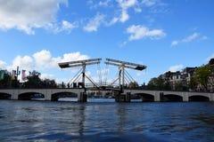 Magere Brug, Skinny Bridge, Amstel, Amsterdam, Holland, Netherlands royalty free stock photography