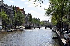 Wijde heisteeg bridge, Herengracht Canal, Amsterdam, Holland, Netherlands royalty free stock image