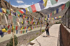 Visiting a holy shrine in Leh Ladakh Stock Images