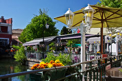 Visiting L'Isle sur la Sorgue Stock Images