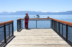 Visiting Lake Tahoe, California. Royalty Free Stock Photos
