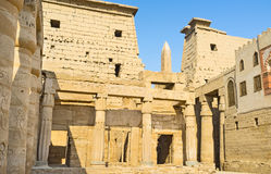 Visiting of Luxor Temple Royalty Free Stock Photography