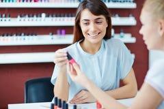Visiting manicurist Royalty Free Stock Photo