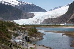 Visiting Mendenhall Glacier Stock Images