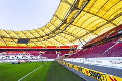 Visiting Mercedes Benz Arena Stock Photography