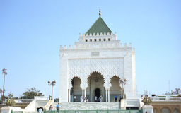 Visiting Mohammed V tomb Stock Photography