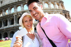 Visiting monuments in Rome with a pass is the best solution Royalty Free Stock Images