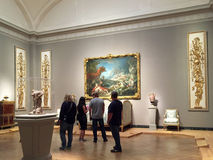 Visiting Museum of Fine Arts Boston background Royalty Free Stock Photography