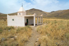 Visiting an old mausoleum in south Morocco Stock Images