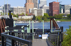 Visiting an old submarine, Portland OR. Royalty Free Stock Photo