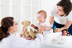 visiting paediatrician  Stock Photography
