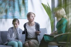 Visiting a psychotherapist Royalty Free Stock Photography