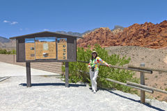 Visiting Red Rock canyon Nevada. Royalty Free Stock Image