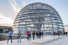 Visiting Reichstag Stock Photo