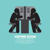 Visiting Room of visitor and prisoner. Stock Photo