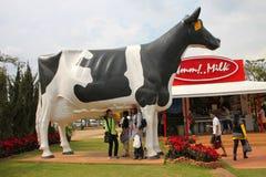 Visiting rural farmland Stock Photo