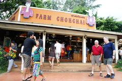 Visiting rural farmland Royalty Free Stock Photography