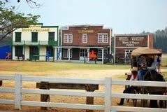 Visiting rural farmland Stock Photography