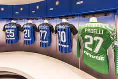 Changing room of FC Inter royalty free stock photos