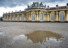 In the park of Sanssouci palace. Visiting Sanssouci palace park. Potsdam, Germany royalty free stock images