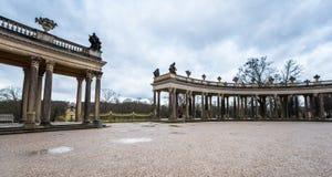 In the park of Sanssouci palace. Visiting Sanssouci palace park. Potsdam, Germany royalty free stock photos