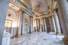 In the halls of Sanssouci palace. Visiting Sanssouci palace. Potsdam, Germany stock photos