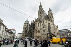 Visiting St. Stephen's Cathedral at Vienna, Austria's capital Royalty Free Stock Images
