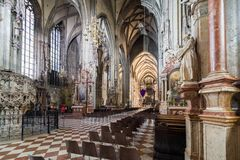 Visiting St. Stephen's Cathedral at Vienna, Austria's capital Stock Photography