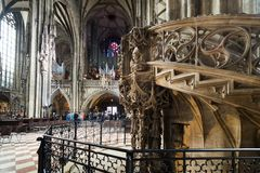 Visiting St. Stephen's Cathedral at Vienna, Austria's capital Stock Images
