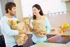 After visiting supermarket Stock Image