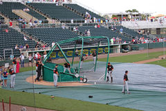 Visiting Team Batting Practice at Hammond Stadium Royalty Free Stock Photography