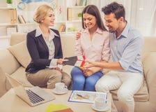 Visiting travel agency Royalty Free Stock Image
