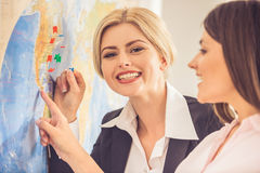 Visiting travel agency Stock Photography