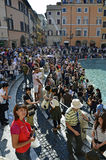Visiting Trevi Stock Images