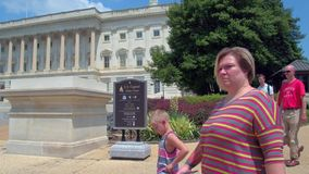 Visiting the US Capitol stock video footage