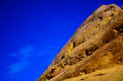 Sandy canyon hill in the desert royalty free stock photo