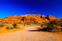 Sandy canyon hill in the desert stock photos