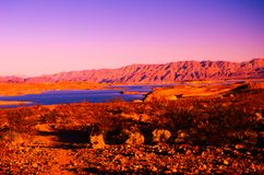 Sandy canyon hill in the desert royalty free stock images