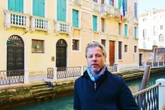 Visiting Venice in winter, Italy royalty free stock images