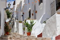 Visiting the village of Frigiliana, Costa del Sol - Spain Holiday Stock Image